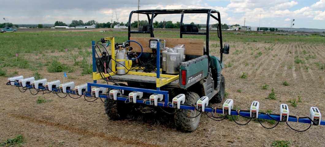 Sprayer with optical sensors